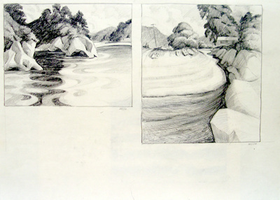 Untitled (Beachscape) 2 scenes; Irvine MAJOR; 21 JAN 1981; 1141