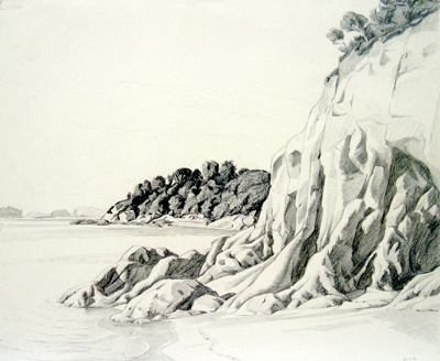 Untitled (Beachscape); Irvine MAJOR; 22 FEB 1981; 1138
