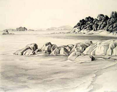 Untitled (Beachscape); Irvine MAJOR; 26 FEB 1981; 1144