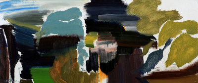 Curving Canal with Overhanging Trees; Ivon HITCHENS; 1954; 313