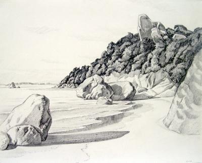 Untitled (Beachscape); Irvine MAJOR; 17 FEB 1981; 1137
