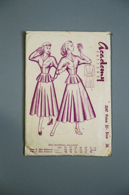 Academy Dress Pattern; Academy Pattern Company Ltd; 2004/0176