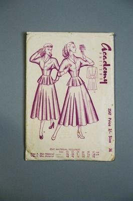 Academy Dress Pattern; Academy Pattern Company Ltd; 2004/0176
