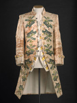 Embroidered coat and waistcoat: