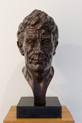 Bust of Sir Edmund Hillary, F. C. W. STAUB, Morris Singer Founders, Circa 1959, A177.6