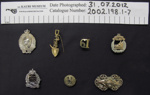 Collection of Military badges; J.R. Gaunt & Son; c.1914-1918; 2002_198_1-7