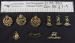 Collection of badges; c.1914-1918; 2011_101_2_1_1-18