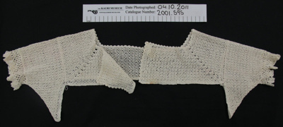 Crochet yoke; Unknown; Unknown; 2001_595