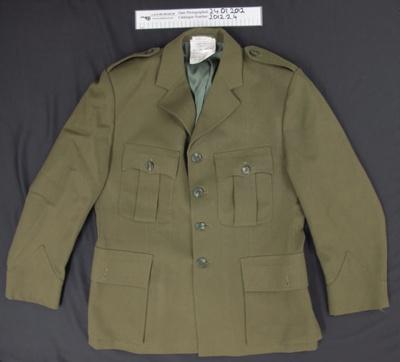 N.Z. Army Coat, WW2; T.R. Booker Ltd.; c.1942; 2012_2_4