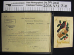 Correspondence WW1; New Zealand Military Forces; c.1914-1918; 2008_472_7-8