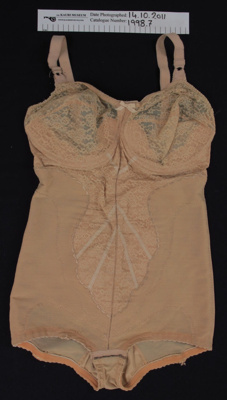 Corselet- bodysuit c.1950's; Unknown; c.1950's; 1998_7