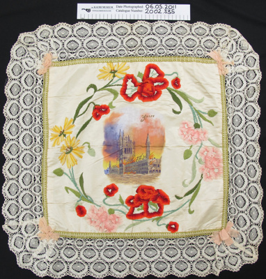 Commemorative cushion cover; Unknown; c.1914-18; 2002_335