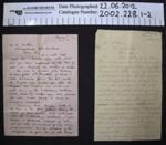 Letters WW1; 1918; 2002_228_1-2