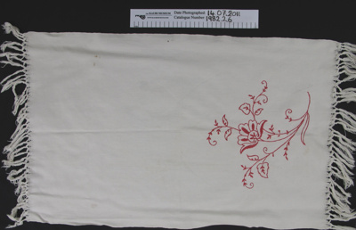 Linen guest towel; Unknown; Unknown; 1982_2_6