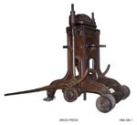 Brick Press; Robert Quaife; 1860's; 1996.399.1