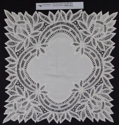 Tea cloth; Unknown; c.1900; 1989_602