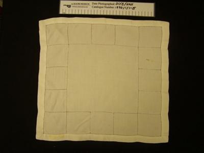 Fabric serviettes; Unknown; Unknown; 1990_1_1-5