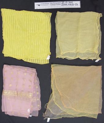 Ladies scarves; Unknown; mid 20th Century; 2004_468_21-26