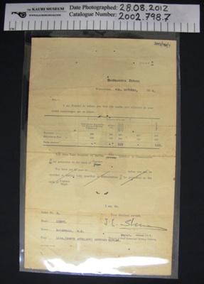 Home Guard ephemera; 1916; 2002_798_7