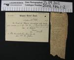 Receipt Belgian Relief Fund 1917; Belgian Relief fund; 1917; 2002_784_1-2