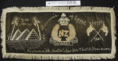 Embroidered souvenir WW2; Unknown; 1941; 2009_125_1