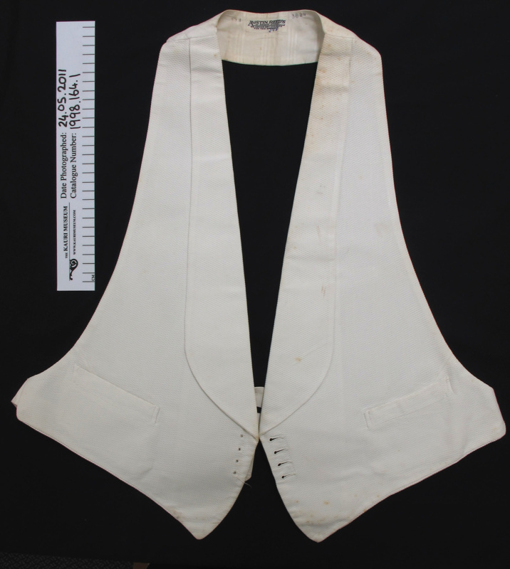 Formal Waistcoat Austin Reed S C 1911 1930 1998 164 1 On Nz Museums