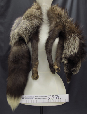 Fox fur stole; Unknown; early 20th Century; 2002_275