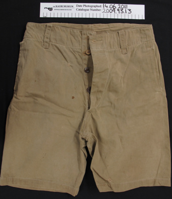 Uniform shorts; Unknown; c.1939-1945; 2009_93_13
