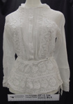 White blouse early 20th Century; Unknown; c.1910-20's; 2003_849