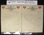Letter 1917; Nederick Rintoul; 1917; 2001_150_1-2