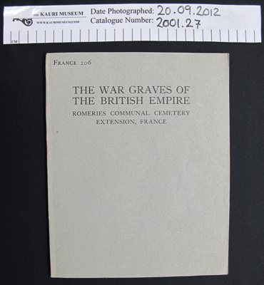 The War Graves of the British Empire; Imperial War Graves Commission; 1925; 2001_27