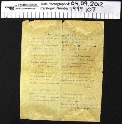 Poem WW1; 1914-1918; 1999_107