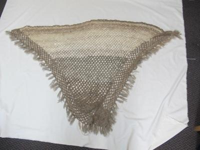 hand spun woollen shawl; 2017.18.1.1