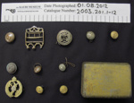 Badge, button collection; Jennens & Co.; c.1914-1918; 2003_201_1-12