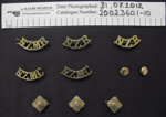 Collection of Military badges; J.R. Gaunt & Son; c.1914-1918; 2002_360_1-10,12-16