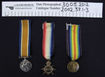 WW1 Medals; 1919; 2002_37_1-3