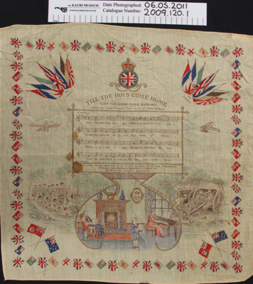 Commemorative handkerchief; Unknown; c.1914-1918; 2009_120_1
