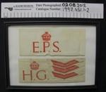 Home guard armbands WW2; c.1939-1945; 1997_451_1-2