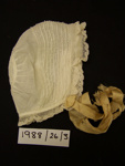 Baby bonnet; Unknown; 1911; 1988_26_3