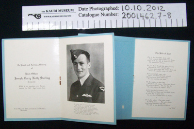 Memoriam card; 1945; 2001_462_7-8