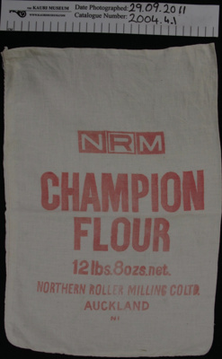 Muslin 'Champion' flour bag; Northern Roller Milling Co Ltd; mid 20th Century; 2004_4_1