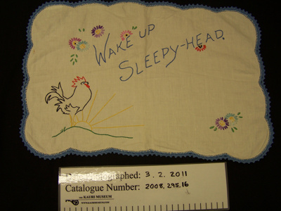 Tray cloth; Unknown; Unknown; 2008_295_16