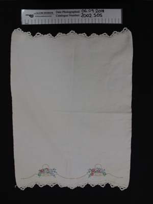 Hand towel; Grace Sheppard; 1938-39; 2002_505