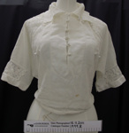 White muslin blouse c.1900's; Unknown; c.1900's; 1999_8