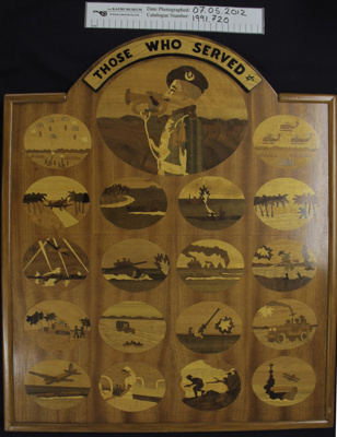 WW2 marquetry panel; 1970's; 1991_720