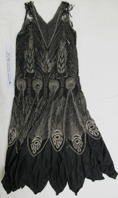 1920's beaded 'flapper' evening dress; Unknown; c.1920's; 1990_978