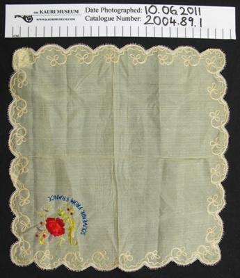 Handkerchief WW1; Unknown; c.1914-1918; 2004_89_1