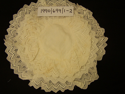 Baby bonnet; Unknown; Unknown; 1990_699