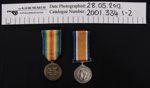 WW1 Medals; 1919; 2001_334_1-2