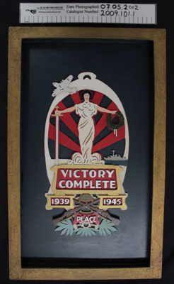 Victory Complete 1939-1945' framed picture; NZ Government; c.1950; 2009_101_1